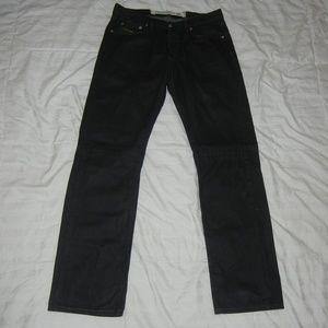 Diesel Button Fly Black Denim Jeans men's 31 X 32